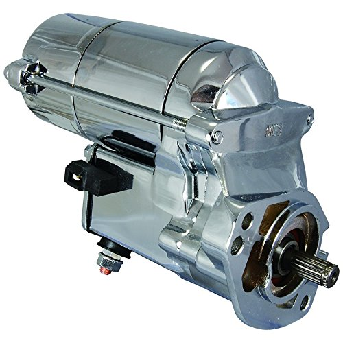Chrome Harley Starter - New Chrome Starter For 1989-Up Custom Harley Davidson 2.0KW 12V CW 18-Tooth Spline 1340cc 1450cc 2.7HP High Torque 31335-03A 31559-99