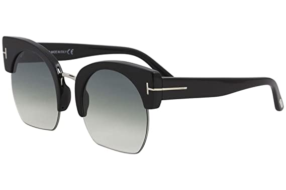 f747fdbbb2d5 Image Unavailable. Image not available for. Color  Tom Ford FT0552  Savannah-02 Sunglasses 55 01W Shiny Black ...