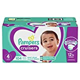 Diapers Size 4 - Pampers Cruisers Disposable Baby Diapers, 104 Count, Giant Pack (Packaging May Vary)