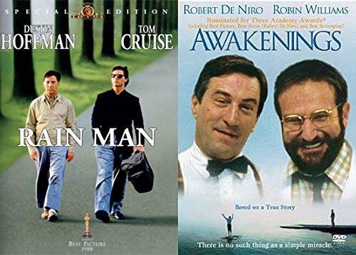 AWARD WINNING Special People Lead Roles Double Feature - Rain Man & Awakenings 2-DVD Bundle
