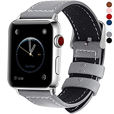 7 Colors for Apple Watch Bands 42mm and 38mm, Fullmosa Jan Calf Leather Strap Replacement Band/Strap for iWatch Series 3, Series 2, Series 1, Sport and Edition Versions 2015 2016 2017