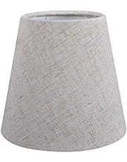 Paralume vintage in lino per candela, lampadario di cristallo, lampada da parete, paralume in tessuto, paralume da tavolo Vintage lino.