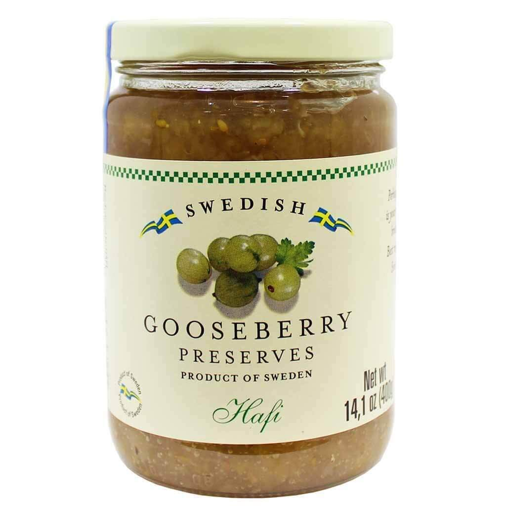 Swedish Gooseberry Preserves by Hafi (14.1 ounce)