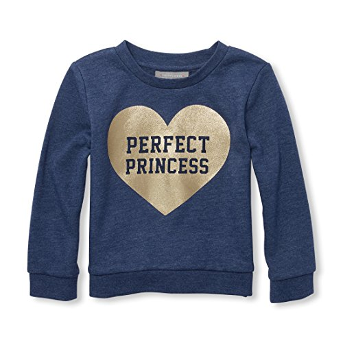The Children's Place Baby Girls Graphic Popover Sweatshirt, Sample/dye Milky Way, 5T -
