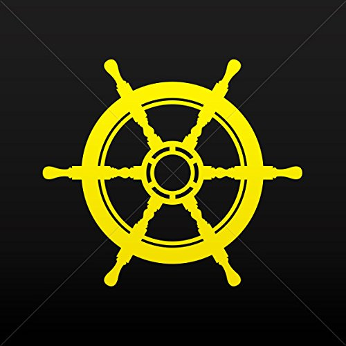 Decal Stickers Rudder Navy Decor Motorbike Bicycle Vehicle ATV Racing Yellow (4 X 3.50 In)