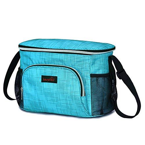 3en 1con aislamiento momia pañal bolsa bebé para cambio de pañales bolsa organizador para carrito de bebé para cochecito de bebé negro negro azul