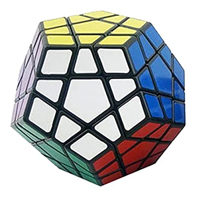 Shengshou Megaminx Brain Teaser Magic Cube Speed Twisty Puzzle Toy, Black: Toys & Games