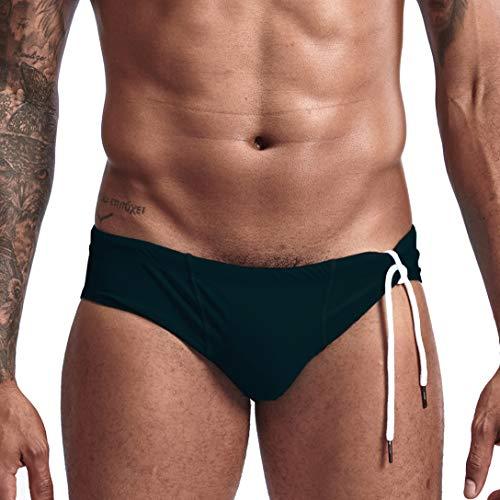 AIMPACT Mens Bikini Swimsuit Swim Briefs Bathing Suits for Men Swimwear(Black L)