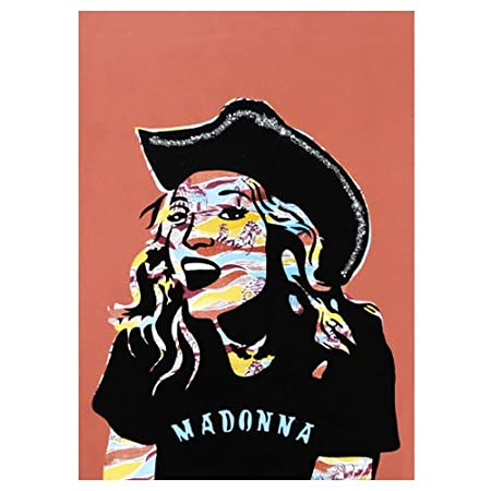 Madonna Vintage Icons Birthday Card Hand Finished With Glitter