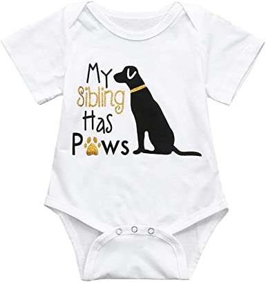 Fartido Newborn Infant Baby Print Letter Short-Sleeve Romper Jumpsuit Outfits