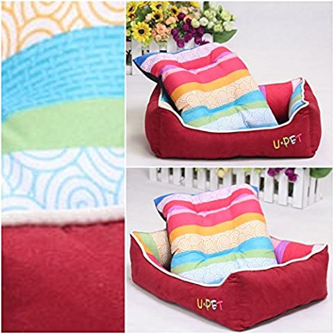 1Pc Famous Popular Pet Bed Size L Sleeping Comfort PP Cotton Soft Material Color Red - Crossbones Slide Charm