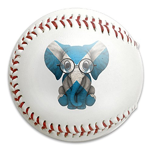 Baby Elephant With Glasses And Scottish Flag Size 9 Safety Soft Baseballs Bullet Ball Training Ball - Walter And White Glasses Hat