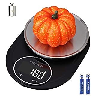 DONPODER 22lb Food Scale 10Kg Cooking Scale oz Kithen Scale Portalbe Coffee Scale Baking Scale 1g/0.1oz Precise Weight Measuring for Cooking and Baking Food weight Scale