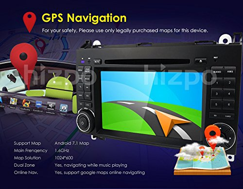 Amazon.com: Android 8.1 Quad Core Car in Dash DVD Player GPS Navigation for Mercedes-Benz W169 A150/A160/A170/A180/A200 W245 B160/B170/B180/B200 W639 ...