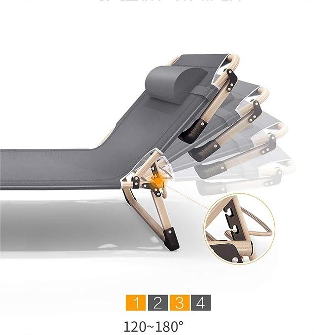 Amazon.com: XEWNEG - Silla reclinable plegable para patio o ...