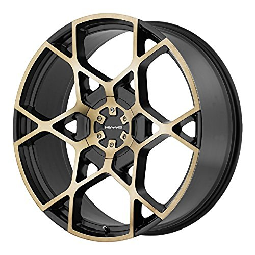 KMC Wheels KM695 Crosshair Satin Black Wheel with Machined Face