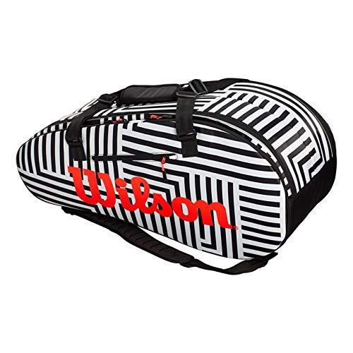 Wilson Super Tour Bold Large 2 Compartment Tennis Bag (Black/White)