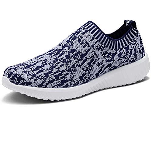 LANCROP Women's Lightweight Slip On Athletic Sneakers Breathable Mesh Walking Shoes
