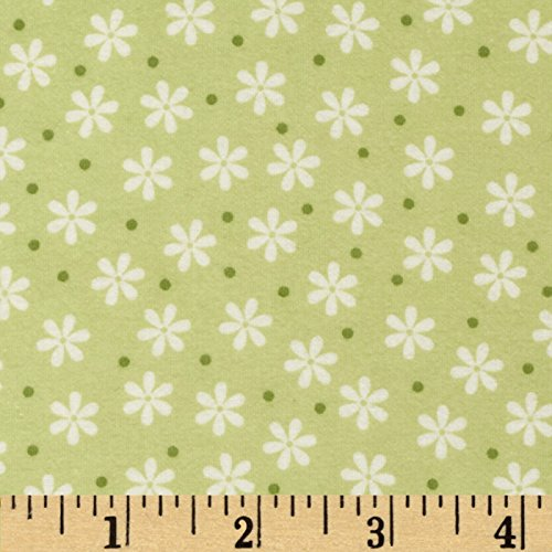 Robert Kaufman Cozy Cotton Flannel Floral Celery Fabric By The Yard (100 Cotton Flannel Fabric By The Yard)