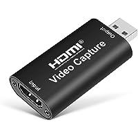 MOSOY ljudvideoinspelningskort, HDMI videoinspelningskort strömmande HDMI till USB 2.0 skiva via DSLR videokamera Action…