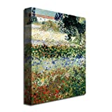Garden in Bloom by Vincent van Gogh, 26x32-Inch