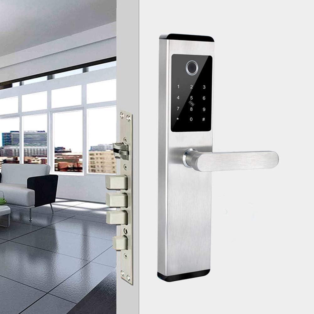 KAILUN Smart Door Lock, Cerradura De Puerta Biométrica Inteligente De Seguridad De Acero Inoxidable Con Huella Digital Con Aplicación Bluetooth Wifi, Para El Hogar/Hotel/Comercial/Apartamento: Amazon.es: Bricolaje y herramientas