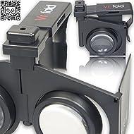 VR-PRIMUS Fold - Casque/Lunettes de réalité virtuelle - Petit, léger et pliable - Pour iOS et Android Smartphones comme l'iPhone, Samsung, HTC, Sony, LG, Huawei, Motorola, ZTE et autres - Compatible avec Google Cardboard Apps - VR Lunettes 3D - Virtual Reality