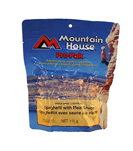 Mountain House Spaghetti with Meat Sauce - Easy Prep. Compact Vaccum Pouch