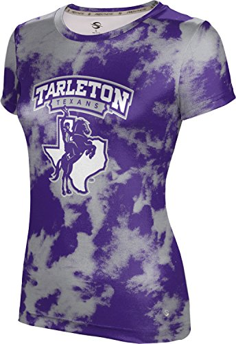 (ProSphere Tarleton State University Girls' Performance T-Shirt (Grunge) FD021 Purple and Gray)