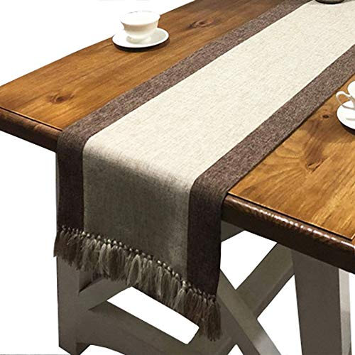 PHNAM Linen Cotton Dining Table Runner 15 x 87 Inches, used for sale  Delivered anywhere in USA