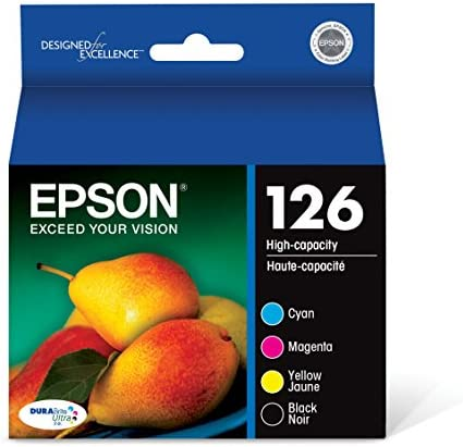 Epson T126120-Bcs Durabrite Ultra Black And Color Combo Pack High Capacity Cartridge Ink