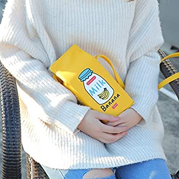 KongLyle Shoulder Bag For Women,Milk Box Cartoon Shoulder Bag Women Girls Crossbody Bags Phone Bag