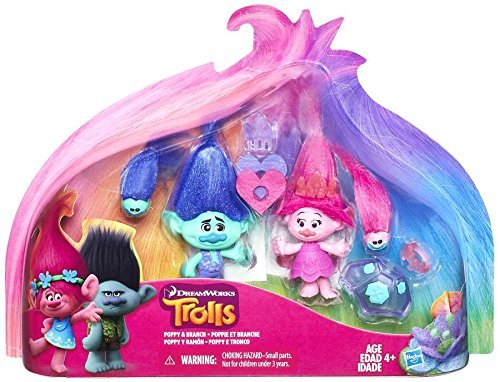 Trolls Poppy & Branch Exclusive Action Figure (Hasbro Toys)
