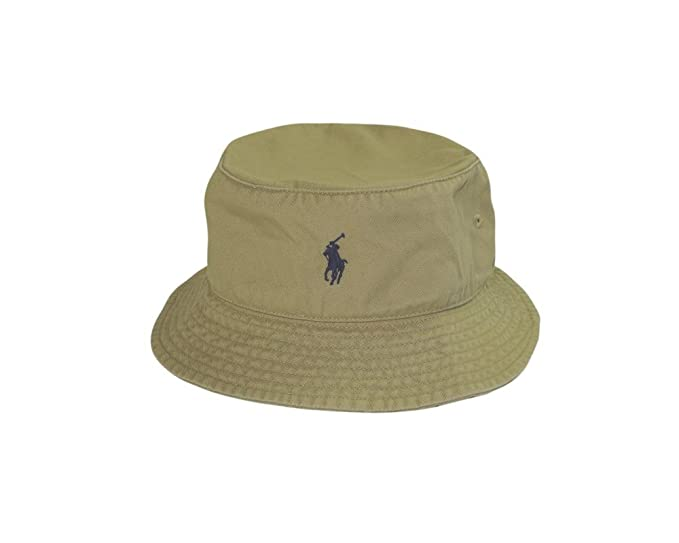 e9e3264b Ralph Lauren Polo Mesh Bucket Hat - Khaki (L/XL): Amazon.co.uk: Clothing
