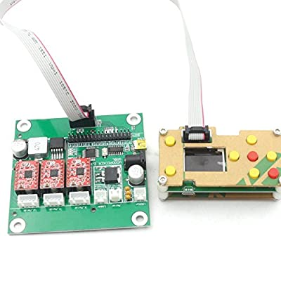 3 Axis 0.9J USB GRBL Control Board+Offline Working Remote Hand GRBL Controller LCD Screen for CNC Laser Engraving Milling Machine Wood Router