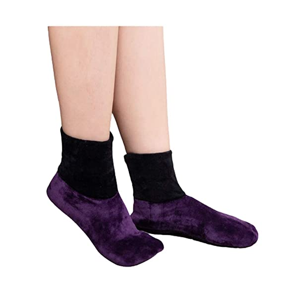 Women Winter Warm Thicken Bed Socks  Non Slip Elastic Floor Socks Slipper Sox^