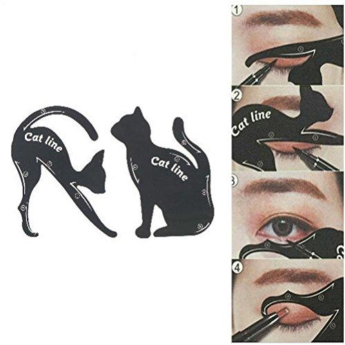 Queen Elizabeth 1 Costume Diy (CASA SHOP DIY 2 PCS/Set Women Cat Line Eyeliner Stencils)