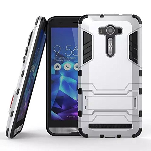 Slim Armor Case for Asus Zenfone 2 Laser 5.5 ZE550KL (Silver) - 1