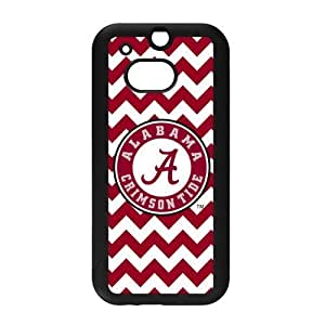 Generic Custom Extraordinary Best Design NCAA Alabama Crimson Tide Team Logo PC and TPU Case Cover for HTC One M8