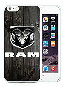 Ram Trucks White iPhone 6 Plus 5.5 inch TPU Cellphone Case Luxurious and Newest Design