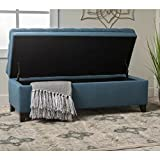 Ottoman Storage Containers Upholstered Stool Rectangular Bench Home Ottoman Rectangle with Lid Tufted Furniture Ottoman Bench Seat Living Room & E book by Easy 2 Find.