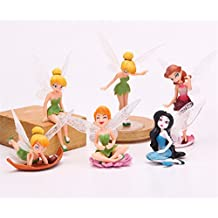 TINKERBELL Fairy Model Doll Toy, 6 Packs, A Perfect Gift And Ornament