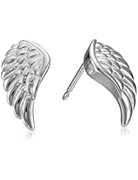 Sterling Silver Angel Wing Stud Earrings