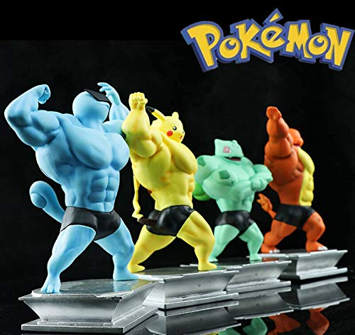Yhk Muscle Bulbasaur And Pikachusquirtlecharmander Figure Bodybuilding Collectionpikachu Cosplay Muscle Man Charmander