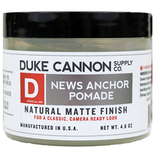 Duke Cannon News Anchor Pomade for Natural Matte Finish, 4.6 ounce (Cannon Tom)