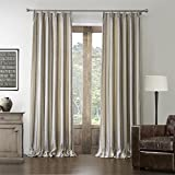 Leyden Pinch Pleated Mediterranean Cotton Jacquard Beige Stripe Oil Painting Texture Curtain Drapes Multi Size Available Custom (One Panel) 100Wx84″L Review