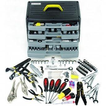 Amazon.com: 105 Pieza Kit de herramientas con cajones ...