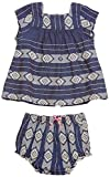 Pink Chicken Baby Girls' Marabelle 2 Piece Set, Navy Jacquard, 12/18 Months