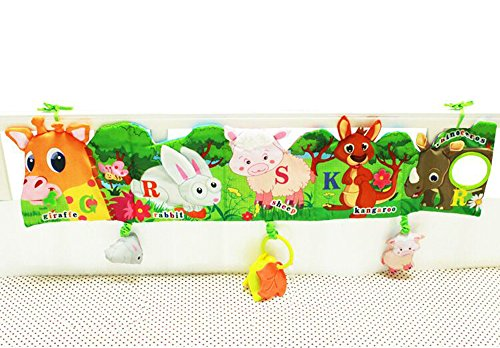 Hosim Baby Crib Cloth Book Animal Puzzle Toys Fawn//Panda, Perfect for Kids Infants Education Development - Newborn Rattle Crib Bed Gallery Bumper Pad 10Pcs with Various Pattern