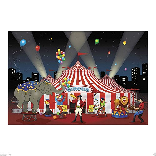 CARNIVAL Circus Big Top Tent Party Decoration Mural BACKDROP Banner Photo (Big Top Photo)